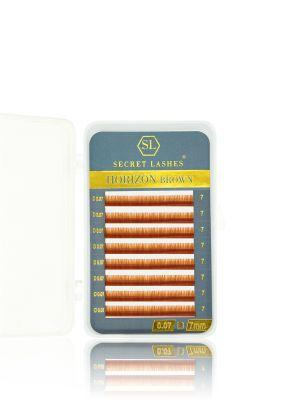 Rzęsy Horizon Brown Orange Coffee D mała kasetka